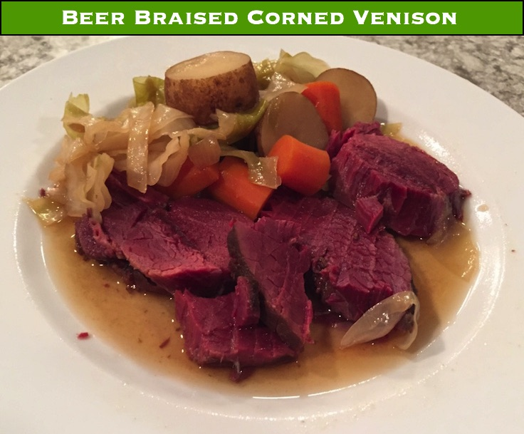 Braised corned venison with cabbage is sure to be a favorite meal for your family.