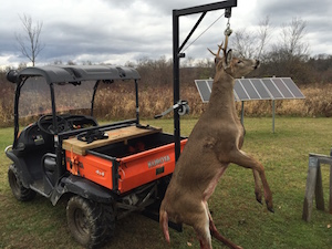 Let a Hitch Hoist do the heavy lifting on your deer