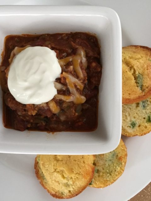 Venison Chili  – and don't forget the Cornbread!