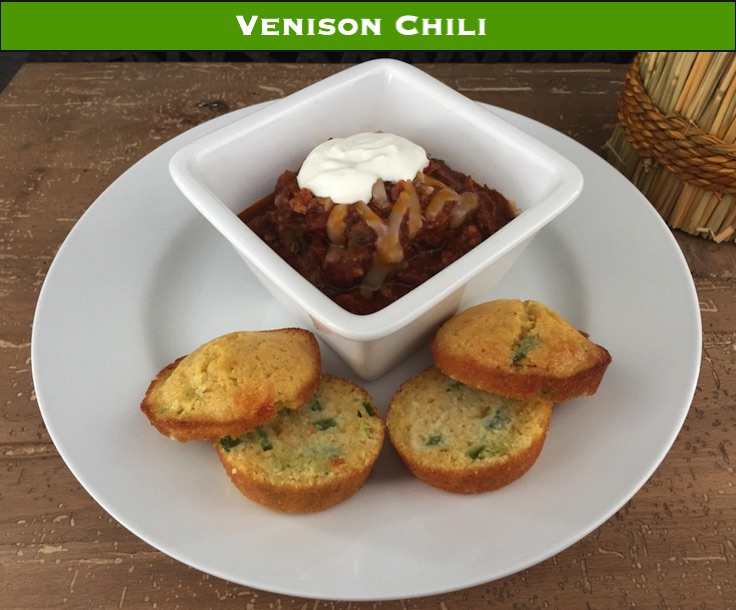Chili is an easy meal to make with venison, and you won't need a grinder for this recipe.