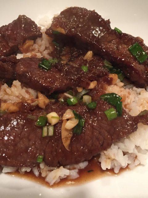 Mongolian Beef Style Venison