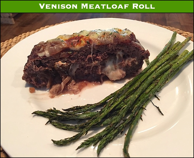 "Does your venison meatloaf suck? Meatloaf can be dry. And venison meatloaf especially dry. This ""stuffed"" version fixes that without overwhelming the loaf."
