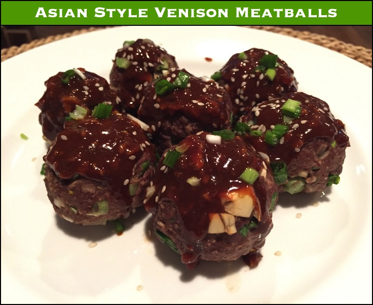 The hoisin sauce on these meatballs adds moisture and a bit of sweetness - and just a great flavor in general.