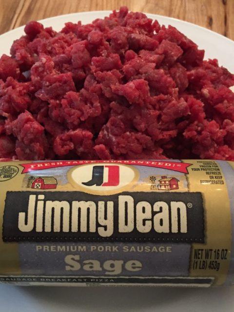 Add pre-made sausage to your ground venison for a super easy venison sausage.
