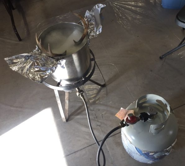 A turkey fryer and a dedicated stock pot GREATLY speed the process up.