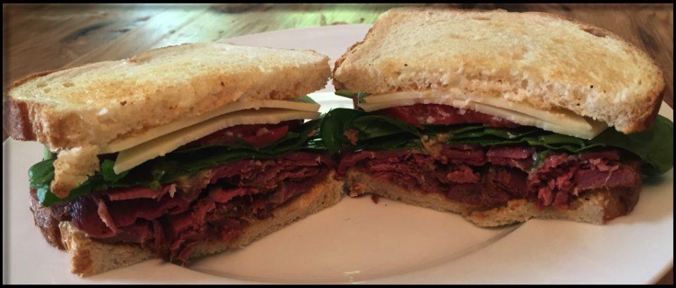 Venison Pastrami Sandwich